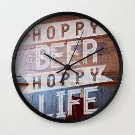 Hoppy Beer Hoppy Life PUB Wall Clock
