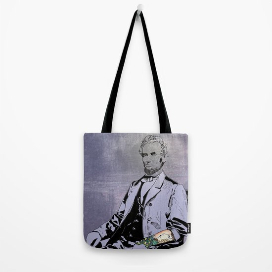 Inked Lincoln Tote Bag