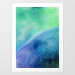 Soft Dreamy Blue Galaxy Art Print