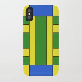 They were all yellow... blue and green iPhone Case