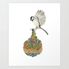 Quilted Bundles: The Bird I Art Print
