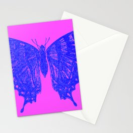 Neon Pop Butterfly  Stationery Cards