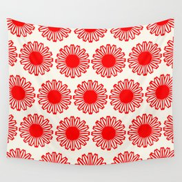 vintage flowers red Wall Tapestry
