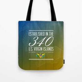 Established in the 340/USVI Tote Bag