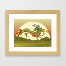 traditional chinese dragon Framed Art Print