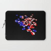 patriotic Laptop Sleeves featuring patriotic jigsaw by Albin0