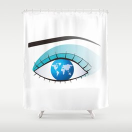 Eye to watch the world Shower Curtain
