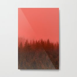 0388 Chocolate Forest with Living_Coral Fog, AK Metal Print