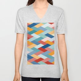 Colorful Geometry VIB Unisex V-Neck
