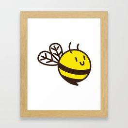 Cuddly Bee Framed Art Print