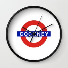 London Cockney Underground Station Wall Clock