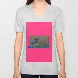 Trippy Great Wave Unisex V-Neck