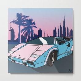 Dusk in Dubai Metal Print