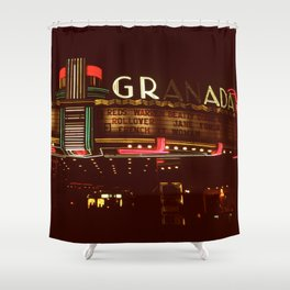 Night Lights Granada Theater, Ithaca NY Shower Curtain