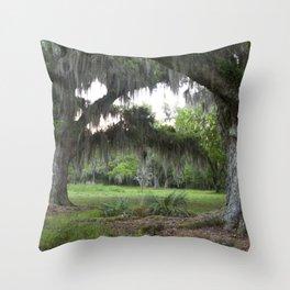Oaks at Bayou Segnette, Louisiana, Southern United States, Fine Art Photo  Throw Pillow