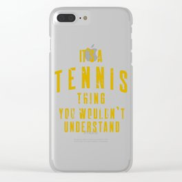 Tennis tournament tennis racket player gift Clear iPhone Case