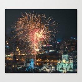 Firework collection 1 Canvas Print