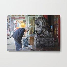Chinatown Encounter Metal Print