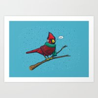 Annoyed IL Birds: The Cardinal Art Print