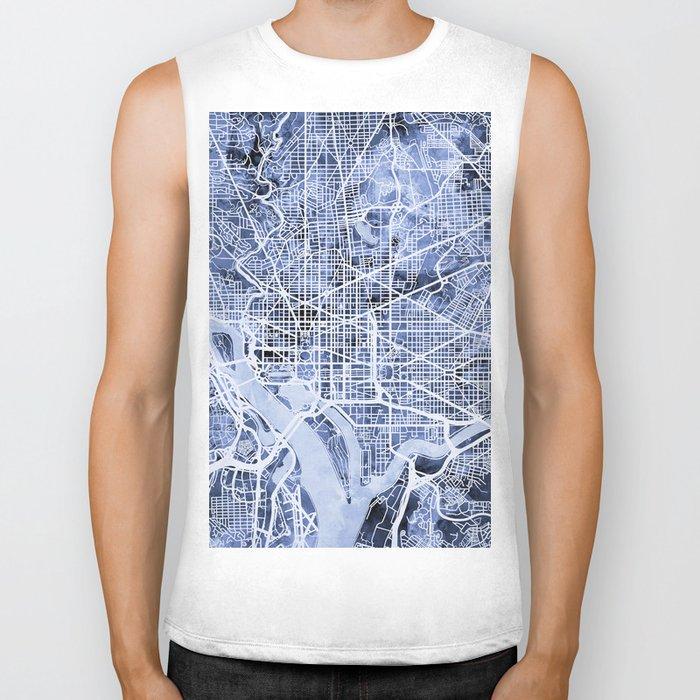 Washington DC Street Map Biker Tank