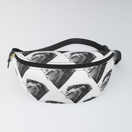 Lion in triangle Fanny Pack