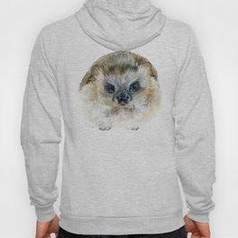 Grumpy Hedgehog - Watercolor Art Hoody