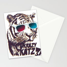 Crazy Tiger Stationery Cards