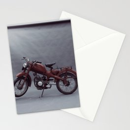 Old motorcycle photography, old motorbike, man cave sign, garage wall art Stationery Cards