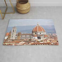 Florence cathedral dome photography Rug