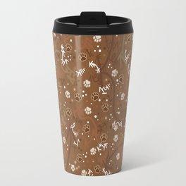 Chocolate Mocha Paw Prints Travel Mug