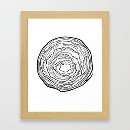 what's inside the Cabbage Framed Art Print