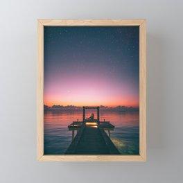 Sunrise or sunset Framed Mini Art Print