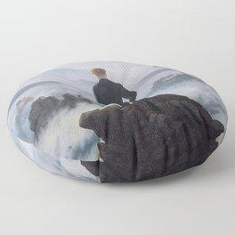 Caspar David Friedrich - Wanderer above the sea of fog Floor Pillow