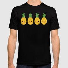Pineapples Black Mens Fitted Tee MEDIUM
