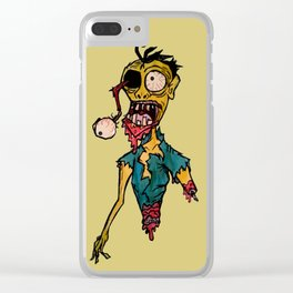 Scary Bloody Zombie Clear iPhone Case