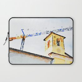 L'Aquila: crane and bell tower Laptop Sleeve