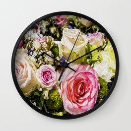 Shabby Roses Wall Clock