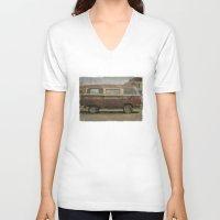 vans V-neck T-shirts featuring Volkswagen Type 2 (T2) Seventies VW Kombi Van by Bruce Stanfield