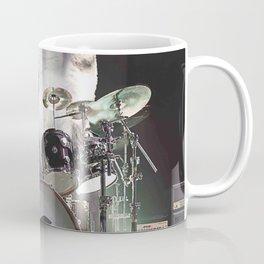 Drumming Drummer Cat Coffee Mug