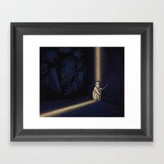 Dark Side Of Me Framed Art Print