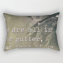 Inspiring quote Rectangular Pillow