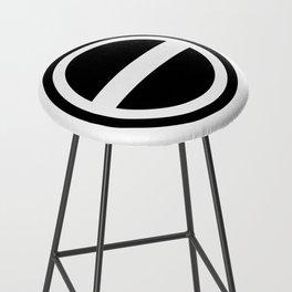 Curtis Holt Logo (Black) Bar Stool