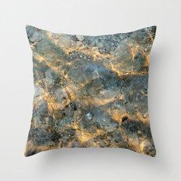 Yellowstone Lake Sunrise Throw Pillow
