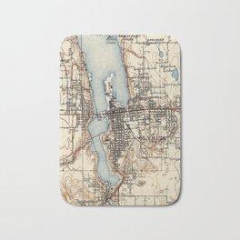 Vintage Map of Olympia Washington (1934) Bath Mat