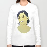 emma watson Long Sleeve T-shirts featuring Emma Watson funny face by Esther Cerga