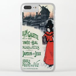 Moulin De La Galette 1896 Paris Clear iPhone Case