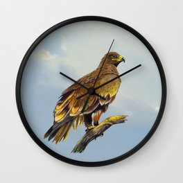 Steppe Eagle Wall Clock