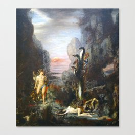 The Lernaean Hydra by Gustave Moreau (1876) Canvas Print