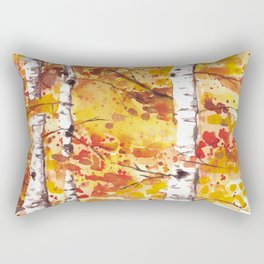 Fall Birch Trees Rectangular Pillow