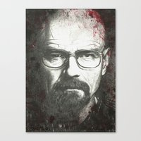 walter white Canvas Prints featuring Walter by LisilV